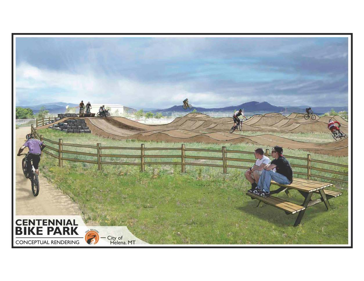 Centennial Bike Park example