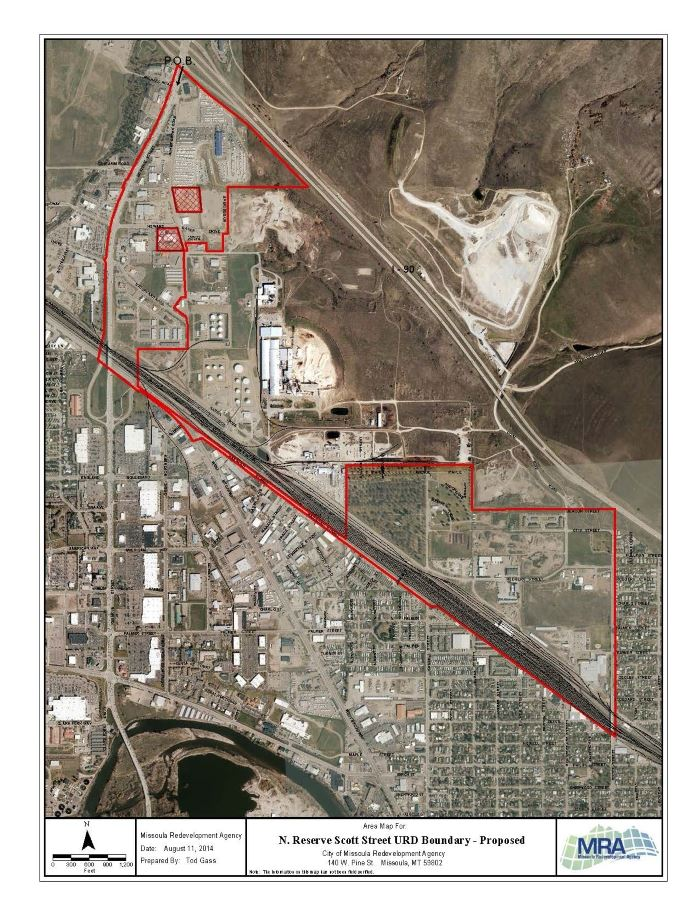Map-URD North Reserve - Scott St.
