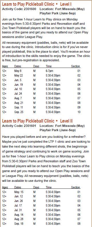 2017 Summer Learn to Play Clinics