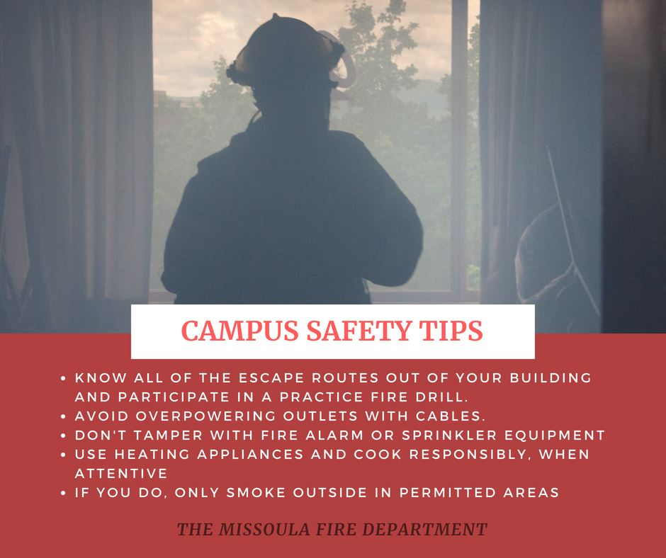 Campus Safety Info-graphic for first time college students