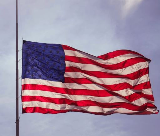 Flag displayed at half staff