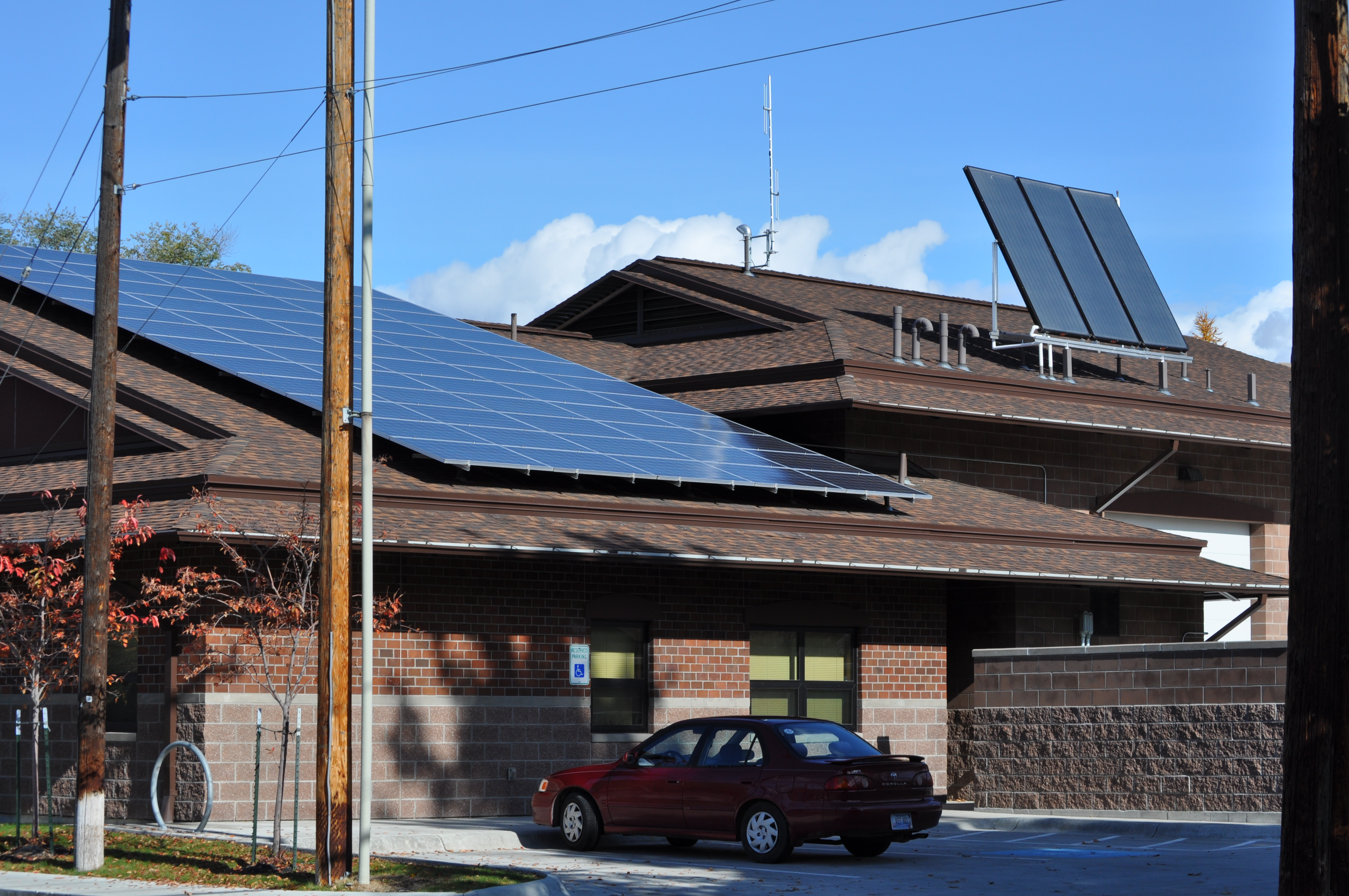 Solar panels at the fire department