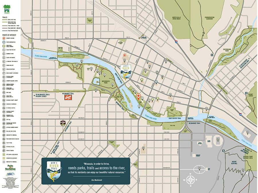 Ron River Trail Map