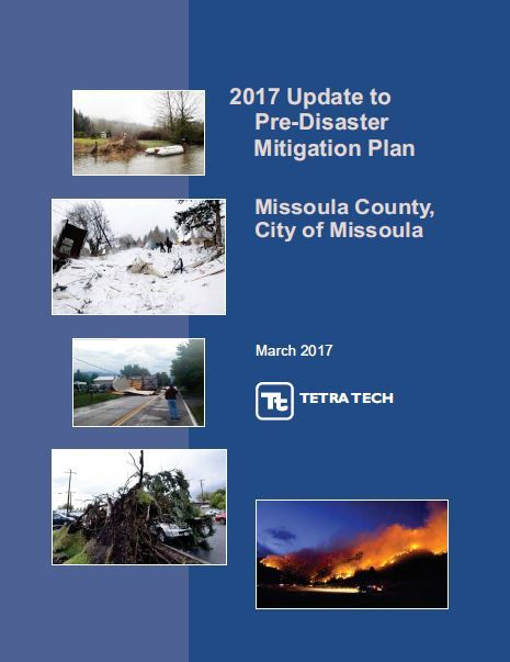 Cover image of the 2017 Pre-Disaster Mitigation Plan