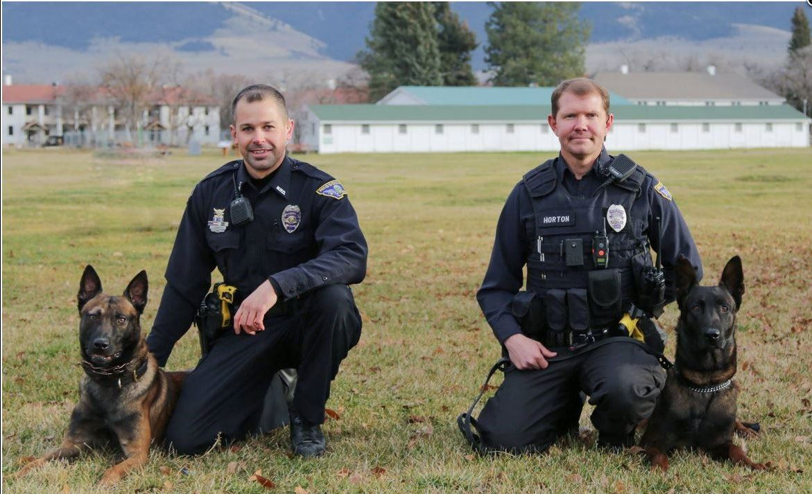 Officer Harrington, K9 Suka, Officer Horton, K9 Jip