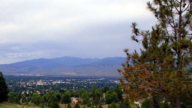 View of Missoula from Chief Charlo school