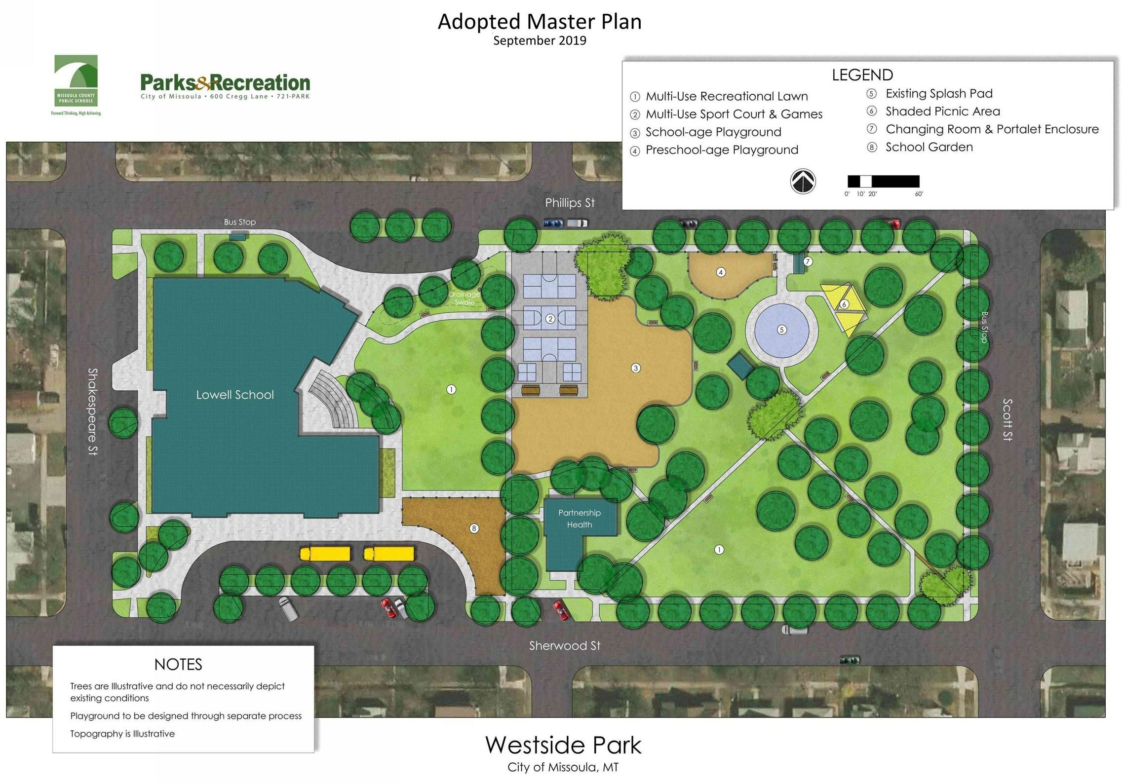 Westside Park Adopted master plan