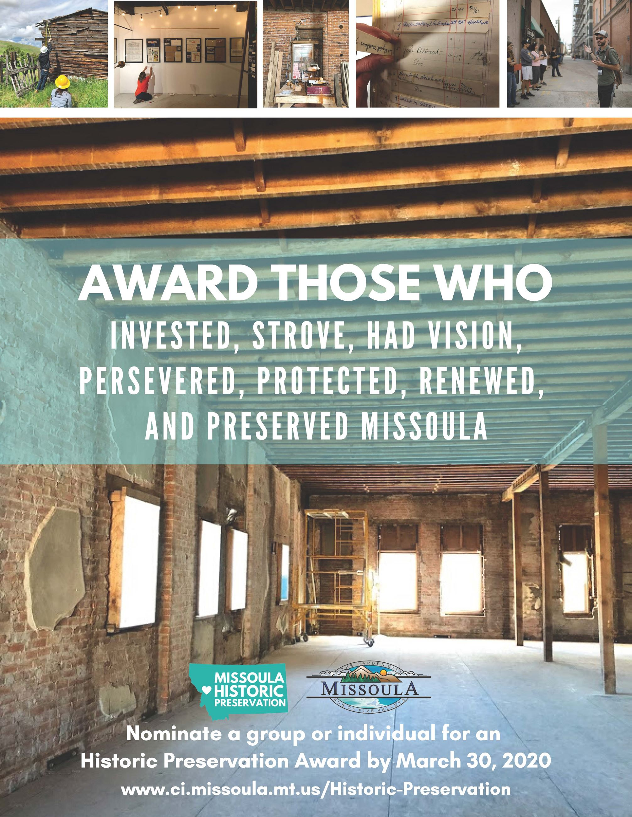 Preservation Awards Flyer 2020