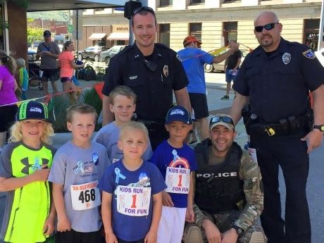 Officers with Missoula's Youth
